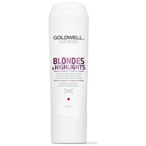 Купить Goldwell Dualsenses Blondes & Highlights Conditioner - Кондиционер осветленных и мелированных волос 200мл