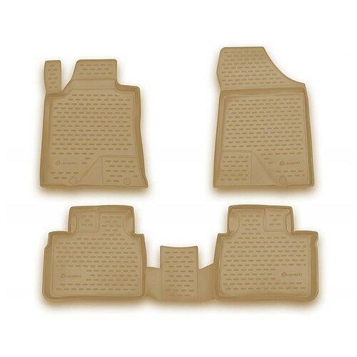 for nissan teana j33 2014 2019 floor mats into saloon 4 pcs set element carnis00042 Комплект ковриков салона ELEMENT CARNIS00042 для Nissan Teana 4 шт. бежевый