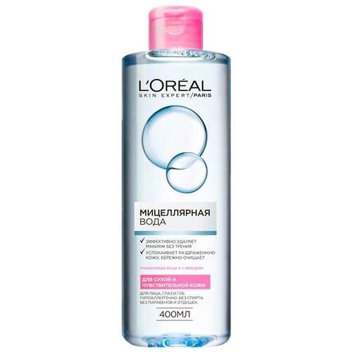 Купить L'Oreal Paris мицеллярная вода для сухой и чувствительной кожи, 400 мл