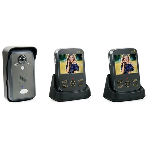 Домофон Переносной ФОТО-302 (1плюс2) - домофон в дверь, беспроводные видеодомофоны, электромагнитный замок с домофоном