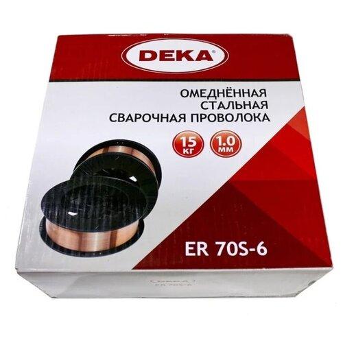 Омедненная сварочная проволока Deka ER70S-6 d-1,0 мм кат.15кг