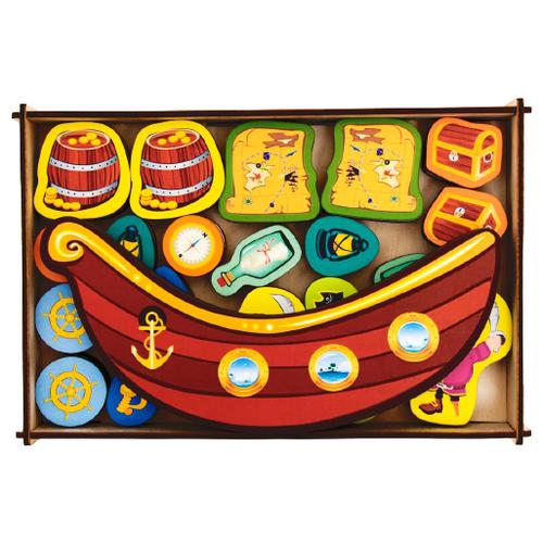 Купить Развивающая игрушка Сибирские игрушки Пиратский корабль 138107 разноцветный, Развивающие игрушки
