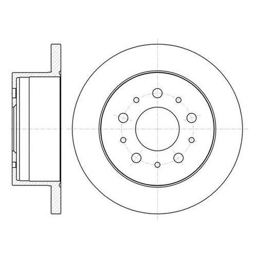 Фото - Тормозной диск Roadhouse 61055.00 для Citroen JUMPER; Fiat DUCATO; Peugeot BOXER тормозной диск задний miles k010676 280x16 для citroen jumper fiat ducato peugeot boxer