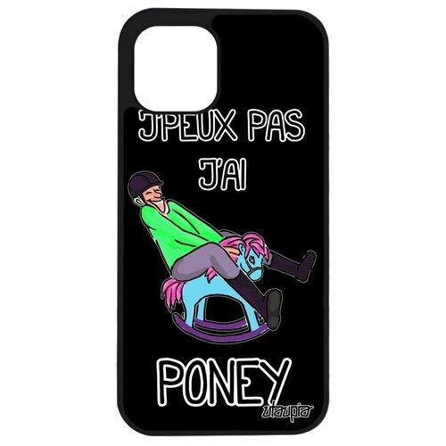 """Чехол на мобильный Apple iPhone 12 mini, """"Не могу - у меня пони!"""" Комикс Лошадь"""