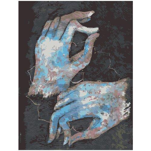Купить Картина по номерам Кисти, 70 х 100 см, Красиво Красим, Картины по номерам и контурам