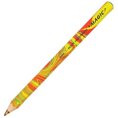 KOH-I-NOOR Карандаш с многоцветным грифелем Magic Original (3405001008BL) желтый/красный koh i noor карандаш с многоцветным грифелем progresso magic 30 штук 8775030001tdru