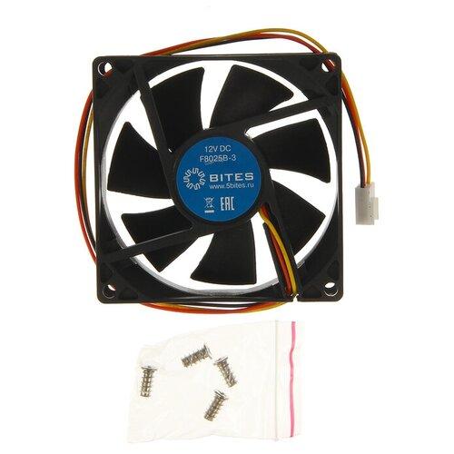 Вентилятор для корпуса 5bites F8025B-3 черный 1 шт. вентилятор для корпуса 5bites f6010s 3