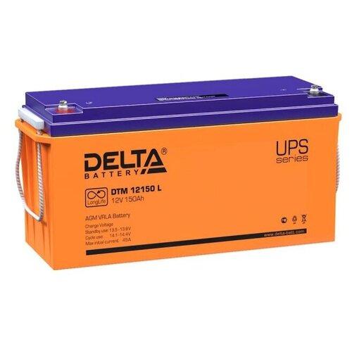 Аккумуляторная батарея DELTA Battery DTM 12150 L 150 А·ч аккумуляторная батарея delta battery dtm 12250 i 250 а·ч