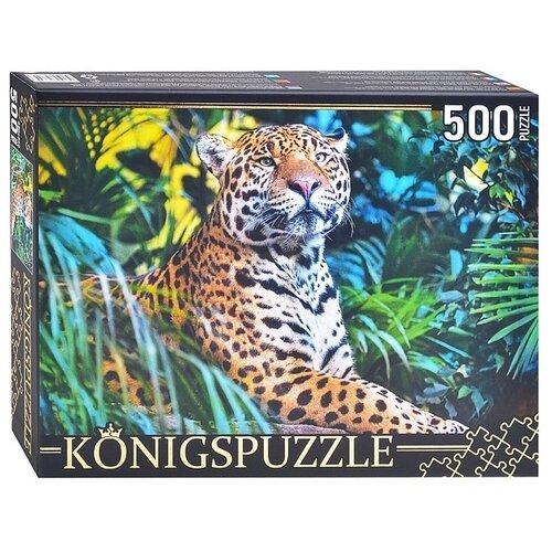 Пазлы Рыжий кот 500 элементов, Konigspuzzle, Леопард в Джунглях (ШТK500-3699)