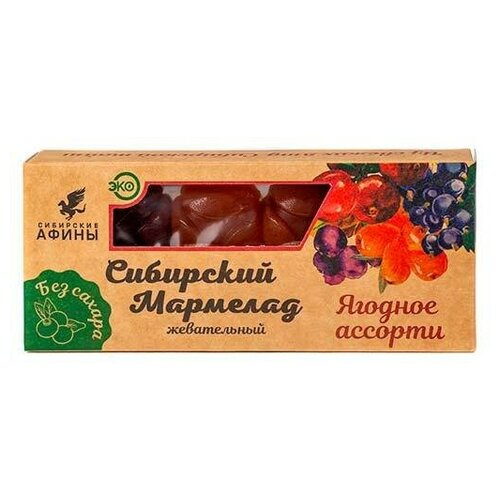 Мармелад на фруктозе ягодное ассорти, 200 гр. (2 шт. в упаковке по 100 гр.) мармелад жевательный ecofood siberia сибирские афины ягодное ассорти 100 г