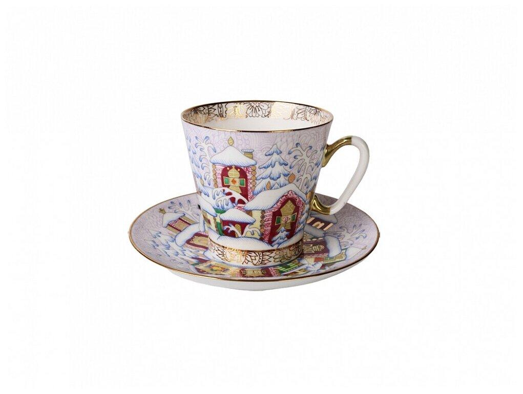 Кофейная пара Императорский фарфоровый завод Зимний день, форма Чёрный кофе, 80 мл, 2 предм. — купить по выгодной цене на Яндекс.Маркете