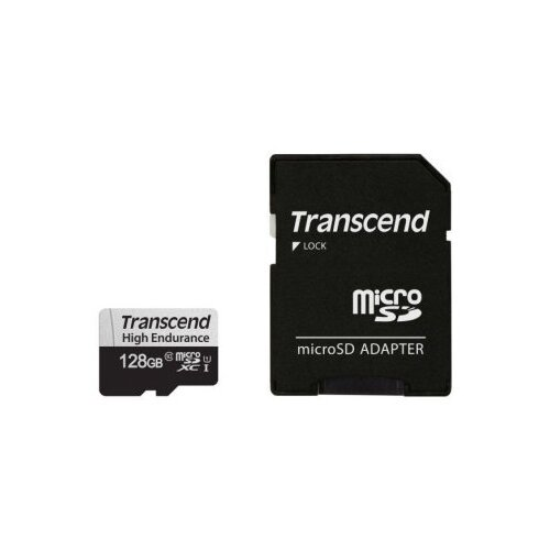 Фото - Карта памяти Transcend microSDXC 350V 128 GB, чтение: 95 MB/s, запись: 45 MB/s, адаптер на SD карта памяти sony sr uxa 16 gb чтение 95 mb s запись 30 mb s адаптер на sd