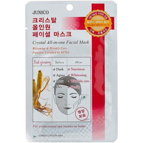 Купить Junico тканевая маска Junico Crystal All-in-one с красным женьшенем, 25 г