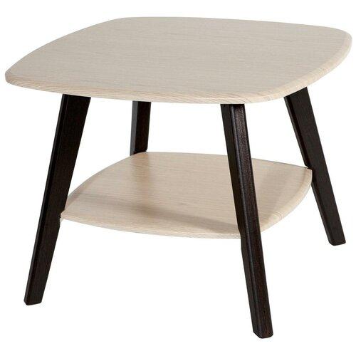 Столик журнальный Калифорния мебель Хадсон, ДхШ: 65 х 65 см, венге/дуб недорого