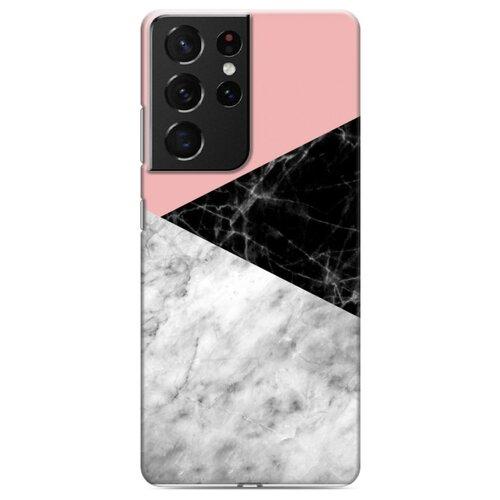 Дизайнерский пластиковый чехол для Samsung Galaxy S21 Ultra Мраморные тренды