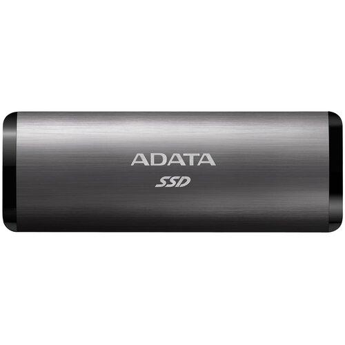 Фото - Внешний SSD ADATA SE760 256 GB, титановый внешний ssd adata se800 512 gb синий