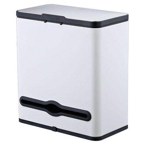Ведро для мусора, внутр ведро, держатель б/полотенец, Foodatlas JAH-542, 4л (белый) ведро для мусора держатель б полотенец foodatlas jah 543 6л белый