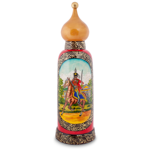 брелок art east 18 см Футляр для бутылки Art East Гусар (МР-25/37), красный/бежевый
