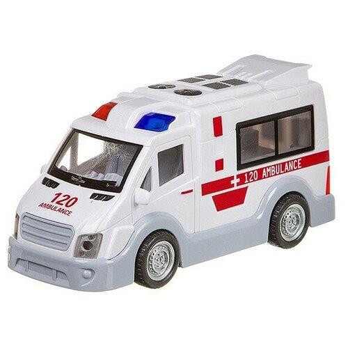 Купить Микроавтобус Yako На земле, В небе, На море (В95576), белый, Машинки и техника