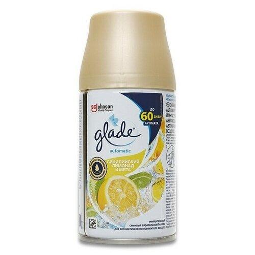 Фото - Glade сменный баллон Сицилийский лимонад и мята 269 мл 1 шт. glade сменный баллон гавайский бриз 269 мл