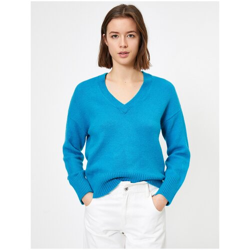 Пуловер KOTON, размер S(36), 600 синий