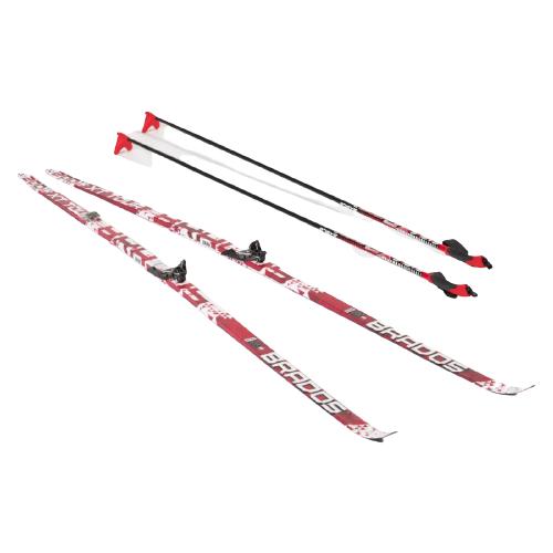 Фото - Беговые лыжи STC Bravos Step XT Tour с креплениями, с палками red 200 см беговые лыжи stc step kid combi черный белый желтый 110 см