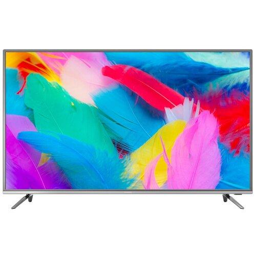 Фото - Телевизор Hyundai H-LED43EU7001 43 (2019), серый металлик телевизор philips 50pus6654 50 2019 серебристый металлик