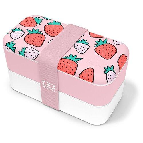 Monbento Ланч-бокс Original, strawberry monbento ланч бокс original 18 6x11 см flower mood denim