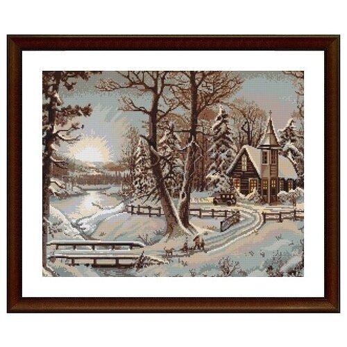 Купить Набор для вышивания «Luca-S» B0321 Зимний пейзаж, Наборы для вышивания
