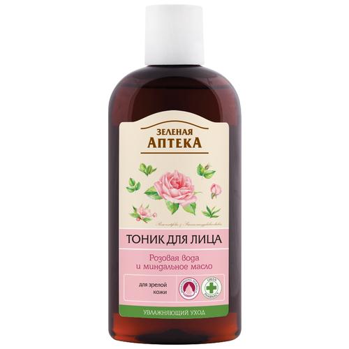 Зелёная Аптека Тоник для лица Розовая вода и миндальное масло, 200 мл