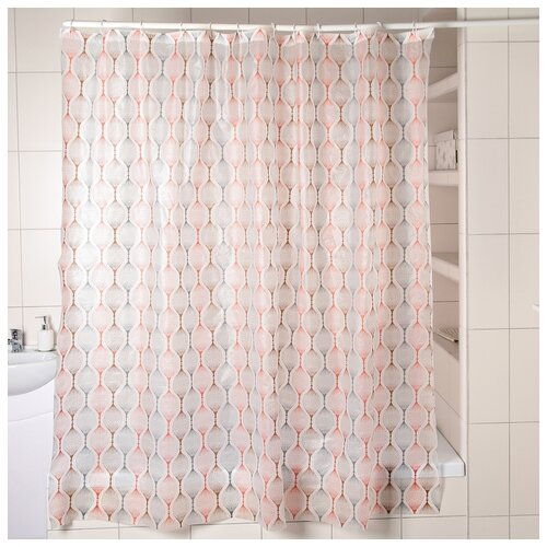 Фото - Штора для ванной Капли, 180х180 см, EVA 3096024 штора для ванной доляна графика 180х180 732658 синий