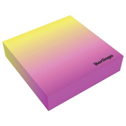 Купить Berlingo блок для записи декоративный на склейке Radiance 85 х 85 мм, 200 листов розовый/желтый, Бумага для заметок