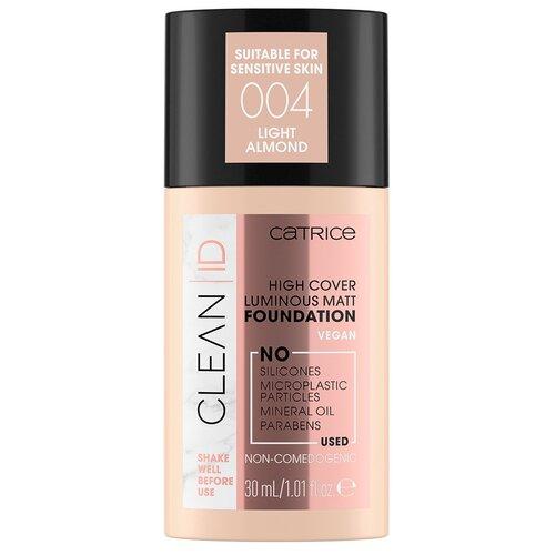 CATRICE Тональный крем Clean id high cover luminous matt foundation, 30 мл, оттенок: 004 Light Almond
