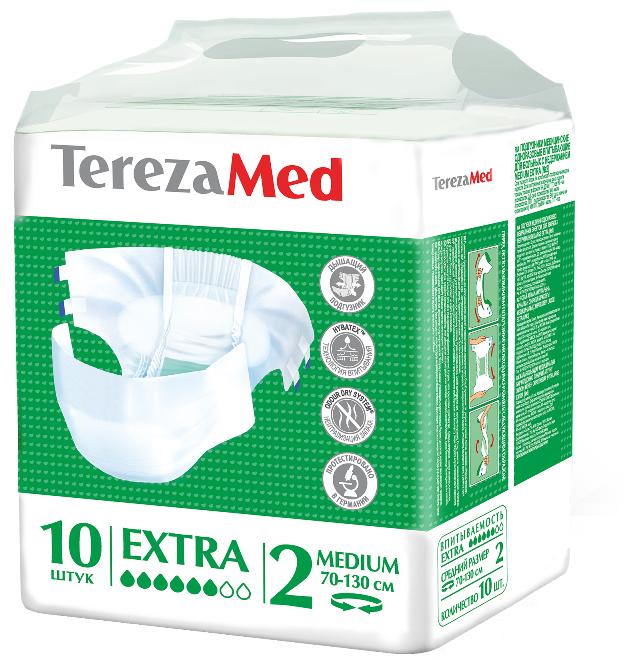 Подгузники для взрослых TerezaMed впитывающие на липучках Extra (10 шт.) — купить по выгодной цене на Яндекс.Маркете