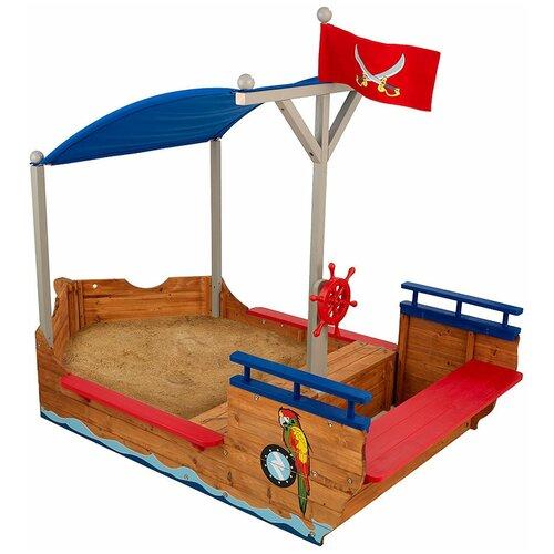 Песочница KidKraft Пиратская лодка 00128_KE, 200х113 см, синий