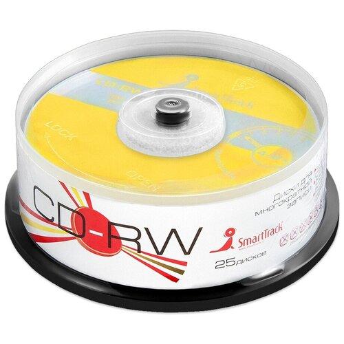 Фото - Диск CD-RW SmartTrack 700Mb 4-12x 25 шт. cake box оптический диск cd rw mirex 700mb 4 12x cake box 10шт ul121002a8l