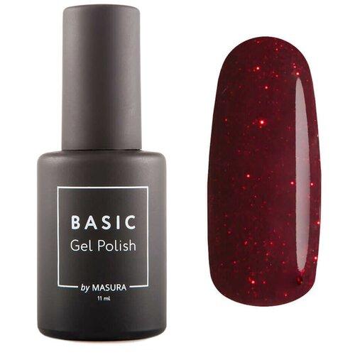Купить Гель-лак для ногтей Masura Basic, 11 мл, Искры Бордо