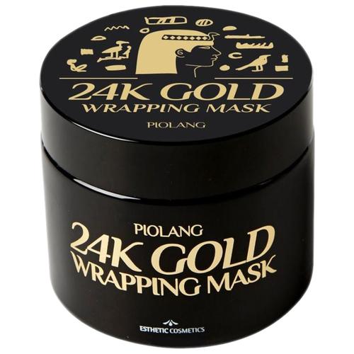 Esthetic House Piolang 24K Gold Wrapping Mask Обволакивающая маска-плёнка для лица с 24 каратным золотом, 80 мл недорого