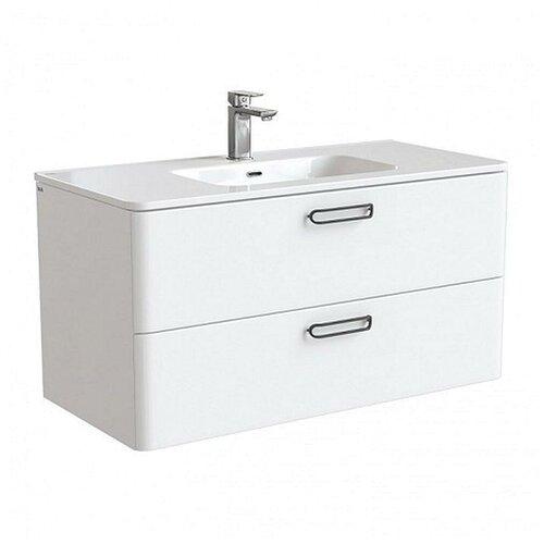 Тумба для ванной комнаты с раковиной IDDIS Brick, ШхГхВ: 100х47х50 см, цвет: белый тумба для ванной комнаты с раковиной iddis cloud шхгхв 100 3х45 5х50 см цвет белый
