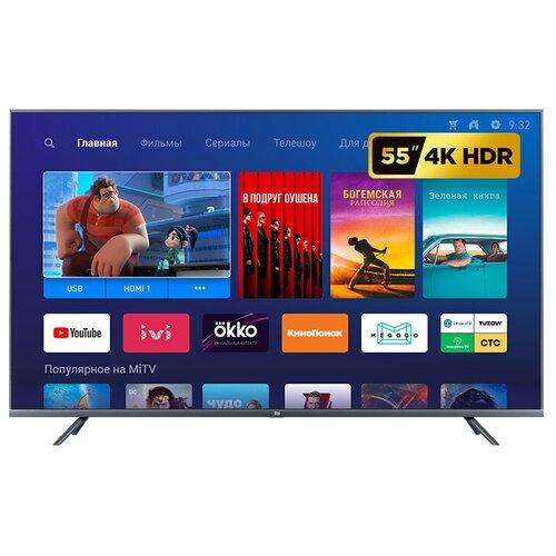 Фото - Телевизор Xiaomi Mi TV 4S 55 T2 54.6 (2019), черный телевизор xiaomi mi tv 4s 65 t2s 65 2020 серый стальной