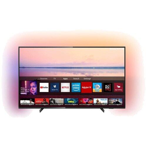 Фото - Телевизор Philips 55PUS6704 54.6 (2019), черный телевизор philips 50pus6654 50 2019 серебристый металлик