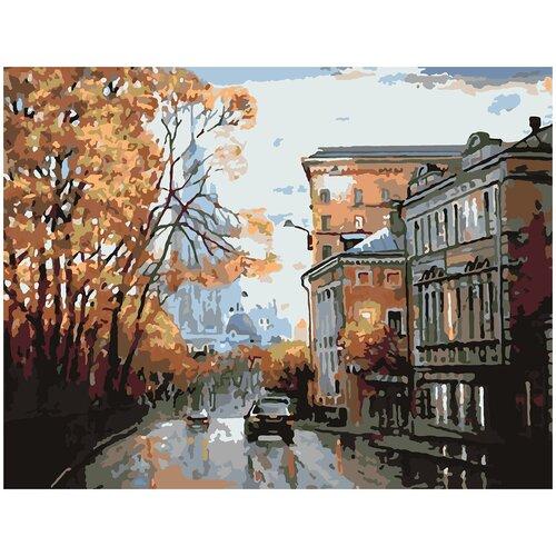 Картина по номерам По Улицам Москвы, 80 х 120 см