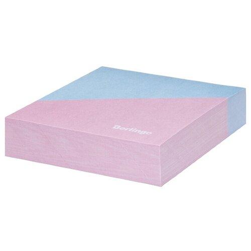 Купить Berlingo Блок для записи декоративный на склейке Haze 85 х 85 мм, 200 листов розовый/голубой, Бумага для заметок