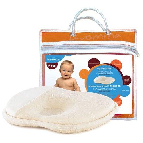 Подушка ортопедическая для новорожденных с эффектом памяти LumF-505 (25х23х3.5 см)