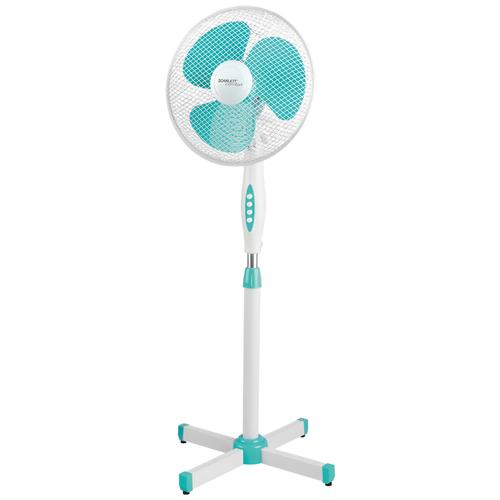 Напольный вентилятор Scarlett SC-SF111B28, белый/бирюзовый