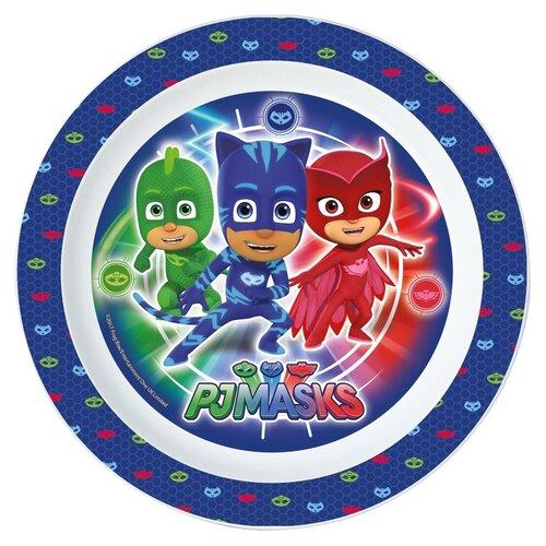 Тарелка пластиковая (для СВЧ). Герои в масках