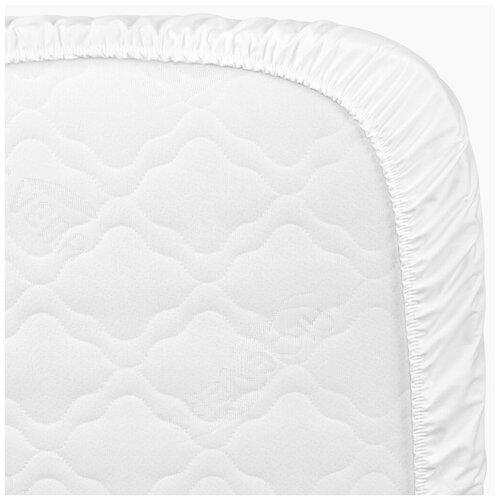 Купить 87536, Простыня на резинке Happy Baby, 145х70, white, Постельное белье и комплекты