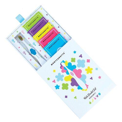 Купить Набор для чистки зубов Montcarotte Kids Dental Set Assorti 0+, blue, Гигиена полости рта