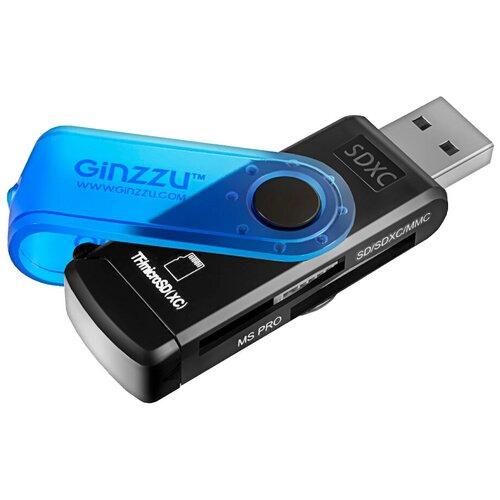 Кардридер Ginzzu GR-412B черно-синий