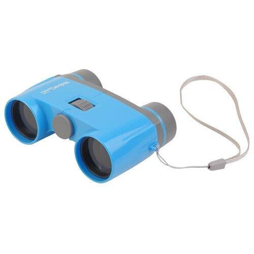 Бинокль Veber Эврика 3х28B голубой/серый зрительная труба veber эврика 12x60 серый оранжевый